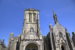 Cathedral of Locronan. France Stock Photos