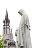 Cathedral in Lourdes Royalty Free Stock Photos