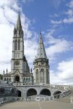 Cathedral of Lourdes. Close up of the Cathedral of Lourdes in France Royalty Free Stock Photos