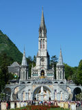 Lourdes. The Cathedral of Lourdes in France Stock Photos