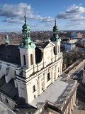 Cathedral, Lublin, Poland. The Cathedral of Saint John The Baptist and The Evangelist, Lublin, Poland seen from the top of the Trynitarska Tower, Lublin, Poland Royalty Free Stock Photo