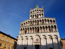 Cathedral in Lucca, Italy. Famous italian landmark, photo was taken in February Stock Photo
