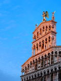 Cathedral in Lucca, Italy. Famous italian landmark, photo was taken in February Royalty Free Stock Photo