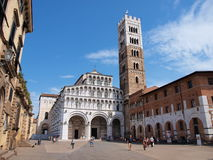 Cathedral, Lucca, Italy. The Cathedral of St Martin on Piazza San Martino, Lucca Lucca, Italy royalty free stock image