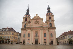 Cathedral of Ludwigsburg Royalty Free Stock Images