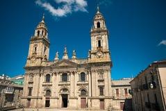 Cathedral of Lugo in Galicia. The Cathedral of Santa Maria de Lugo Stock Photo