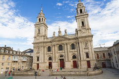 Cathedral of Lugo in Spain stock image