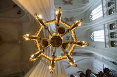 Cathedral luster from below Stock Images