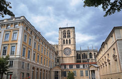 Cathedral in Lyon Stock Photography