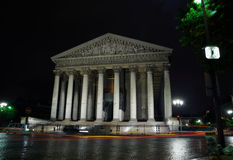 Cathedral Madeleine by night, Paris. France Stock Photo