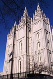 The Cathedral of Madeleine, Salt Lake City, Utah. The Cathedral of the Madeleine, the only cathedral in the U.S. under the patronage of St. Mary Magdalene, is Stock Photography