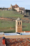 Cathedral and Madonna of Miron hermitage, Soria Stock Photo