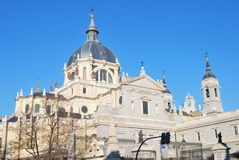 Cathedral of Madrid Royalty Free Stock Photography