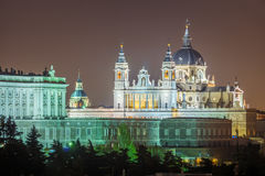 The Cathedral of Madrid. (Almudena Cathedral) is a modern building concluded in 1993. It is one of the attractions of the city Stock Photo