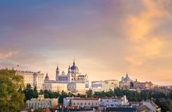 The Cathedral of Madrid Royalty Free Stock Photo