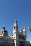 Cathedral of madrid, the facade and the dome Stock Photography