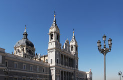 Cathedral of madrid Royalty Free Stock Photo