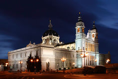 Cathedral in Madrid, Spain Royalty Free Stock Images