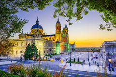 Cathedral in Madrid Stock Image