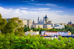 Cathedral of Madrid Royalty Free Stock Image