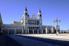 Cathedral of Madrid Royalty Free Stock Photos