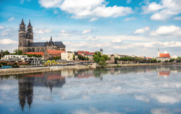 Cathedral of Magdeburg in Germany Stock Photo