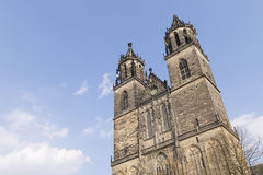 Cathedral in Magdeburg, Germany Royalty Free Stock Images