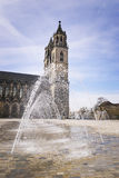 Cathedral Magdeburg with water fountain Stock Images
