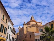 Cathedral in Mahon on Minorca Royalty Free Stock Images