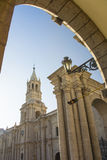 Cathedral at Main plaza, Arequipa, Peru Royalty Free Stock Photos