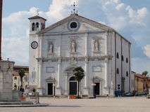 Cathedral in the main square of Palmanova Stock Images