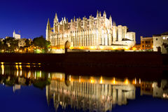 Cathedral of Majorca Balearic islands Royalty Free Stock Photo