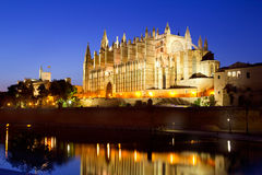 Cathedral of Majorca Balearic islands Stock Images