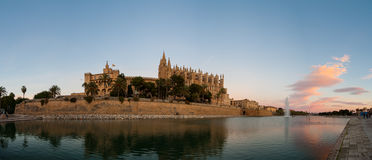 Cathedral of Majorca in Palma de Mallorca Balearic islands Royalty Free Stock Images
