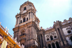 Cathedral in Malaga, Andalusia, Spain Royalty Free Stock Photos