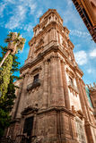 Cathedral in Malaga Stock Photography