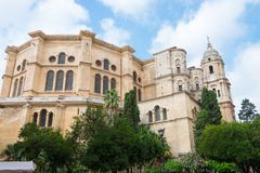 Cathedral Malaga, Andalusia, Spain. Roman Catholic church; Renaissance architecture royalty free stock photo