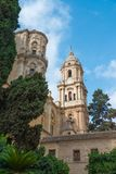 Cathedral Malaga, Andalusia, Spain stock photography