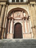 Cathedral of Malaga city entrance royalty free stock photo