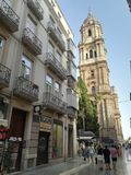 Cathedral of Malaga city stock photography