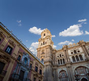 Cathedral of Malaga --is a Renaissance church in the city of Malaga, Andalusia, southern Spain Stock Photography