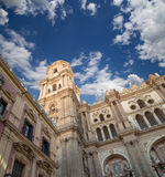 Cathedral of Malaga --is a Renaissance church in the city of Malaga, Andalusia, southern Spain Stock Images