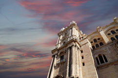 Cathedral of Malaga --is a Renaissance church in the city of Malaga, Andalusia, southern Spain Stock Photo