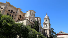 Cathedral of Malaga-- is a Renaissance church in the city of Malaga, Andalusia, southern Spain. Stock Images