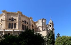 Cathedral of Malaga-- is a Renaissance church in the city of Malaga, Andalusia, southern Spain. Royalty Free Stock Images