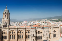 The Cathedral at Malaga Spain Stock Images