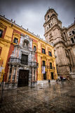 Cathedral of Malaga, Spain royalty free stock images