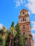 Cathedral in Malaga, Spain Royalty Free Stock Images