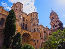 Cathedral in Malaga, Spain Royalty Free Stock Photography