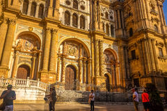 Cathedral in Malaga, Spain Stock Photography